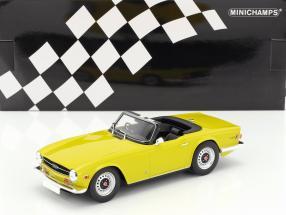 Triumph TR6 year 1973 yellow 1:18 Minichamps