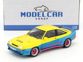 Opel Manta B Mattig Movie Manta Manta (1991) yellow / blue metallic / pink 1:18 Model Car Group