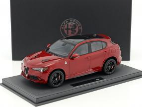 Alfa Romeo Stelvio Quadrifoglio L. A. Auto Show 2016 rot metallic / schwarz mit Vitrine 1:18 BBR