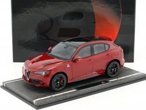 Alfa Romeo Stelvio Quadrifoglio Los Angeles Auto Show 2016 rot metallic / schwarz 1:18 BBR