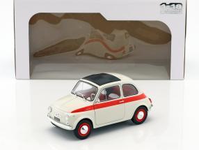 Fiat 500 L Baujahr 1960 creme / rot 1:18 Solido