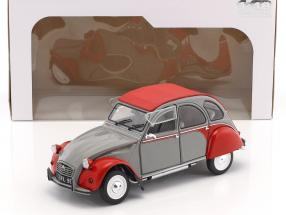 Citroen 2CV6 Dolly year 1985 gray / red 1:18 Solido