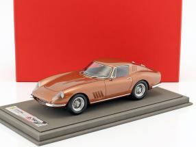 Ferrari 275 GTB4 Coupe Baujahr 1967 braun metallic mit Vitrine 1:18 BBR