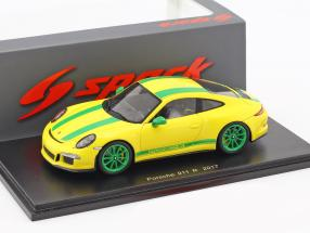 Porsche 911 (991) R year 2017 yellow / green 1:43 Spark