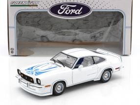 Ford Mustang II King Cobra Baujahr 1978 weiß / blau 1:18 Greenlight