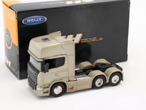 Scania V8 R730 (6x4) gold 1:64 Welly