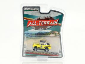 Ford Bronco Baja All-Terrain Baujahr 1972 gelb 1:64 Greenlight