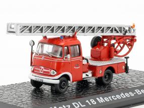 Mercedes-Benz L319 Metz DL18 fire Department 1:72 Altaya