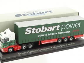 Scania Highline Curtainside Collette Cheryl  H6400 Stobart Power grün / weiß 1:76 Atlas