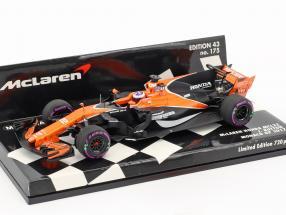 Jenson Button McLaren MCL32 #22 Monaco GP Formel 1 2017 1:43 Minichamps