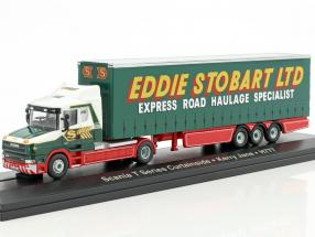 Scania T Series Curtainside Kerry Jane H777 Stobart Power grün / weiß 1:76 Atlas