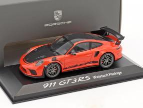 Porsche 911 (991 II) GT3 RS Weissach Package lava orange / schwarz 1:43 Minichamps