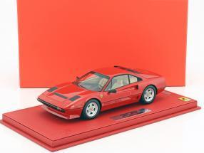 Ferrari 208 GTB Turbo Baujahr 1982 rot mit Vitrine 1:18 BBR