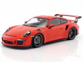 Porsche 911 (991) GT3 RS Baujahr 2015 lava orange 1:18 Minichamps