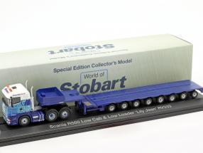Scania R560 Low Cab & Low Loader Lily Jean RV233 Stobart blau / weiß 1:76 Atlas