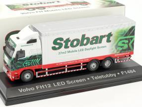 Volvo FH Mobile LED Screen Teletubby F1484 Stobart grün / weiß 1:76 Atlas