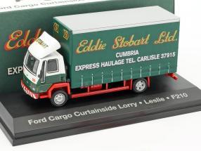 Ford Cargo Curtainside Lorry Leslie F210 Stobart grün / weiß 1:76 Atlas