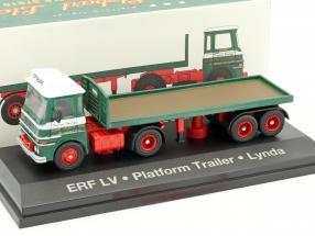 ERF LV Platform Trailer Lynda Stobart grün / weiß 1:76 Atlas