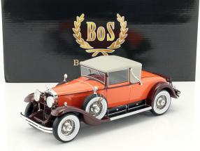 Cadillac 341B Convertible coupe year 1929 orange / brown 1:18 BoS-Models