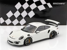 Porsche 911 (991) GT3 RS year 2015 white with black rims 1:18 Minichamps