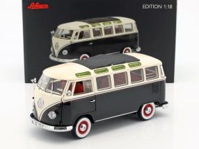 Volkswagen VW T1 Samba Bus year 1959-1963 black / White 1:18 Schuco