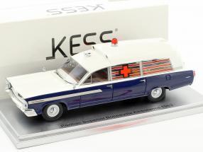 Pontiac Superior Bonneville Ambulance Baujahr 1963 blau 1:43 KESS