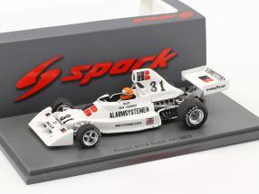 Gijs van Lennep Ensign N174 #31 Niederlande GP Formel 1 1975 1:43 Spark