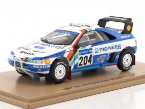 Peugeot 405 T16 Grand Raid #204 Winner Rallye Paris - Dakar 1989 Vatanen, Berglund 1:43 Spark