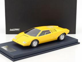 Lamborghini Countach LP 500 Prototype gelb mit Vitrine 1:18 LookSmart