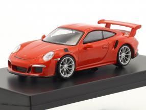 Porsche 911 (991) GT3 RS Baujahr 2016 lava orange 1:64 Spark