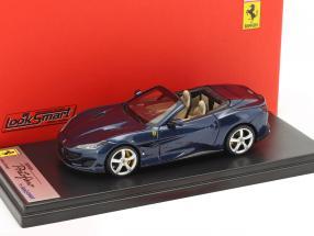 Ferrari Portofino Open Top Baujahr 2017 blau metallic 1:43 LookSmart