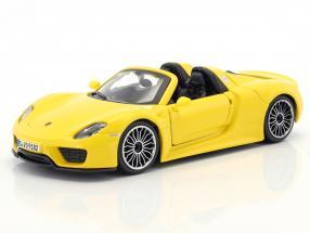 Porsche 918 Spyder yellow 1:24 Bburago