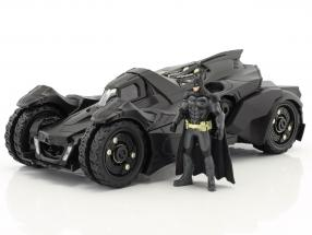 Batmobile Arkham Knight (2015) with figure Batman black 1:24 Jada Toys