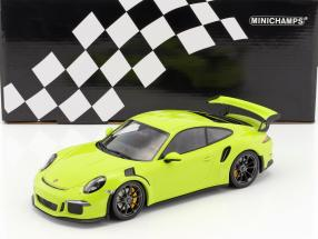 Porsche 911 (991) GT3 RS year 2015 light green 1:18 Minichamps