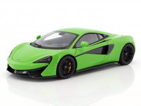 McLaren 570S year 2016 mantis green with black wheels 1:18 AUTOart