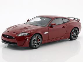 Jaguar XKR-S Baujahr 2011 dunkel rot 1:18 AUTOart