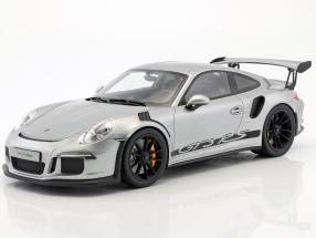 Porsche 911 (991) GT3 RS Baujahr 2015 silber 1:12 GT-Spirit