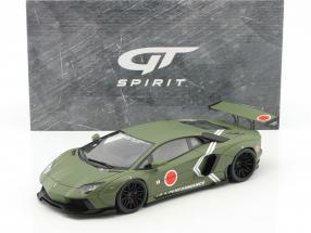 LB Lamborghini Aventador year 2016 mat khaki green 1:18 GT-Spirit