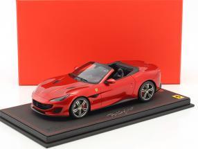 Ferrari Portofino Spider Version Rosso Fuoco Baujahr 2017 rot 1:18 BBR