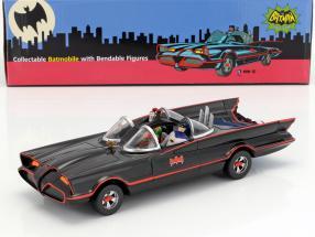 Batmobile mit biegbaren Figuren Batman und Robin Classic TV Serie Batman (1966) 1:24 NJCroce