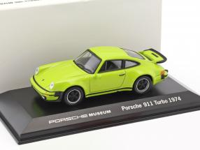 Porsche 911 Turbo year 1974 lime 1:43 Welly