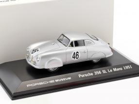Porsche 356 SL #46 24h LeMans 1951 Mouche, Veuillet 1:43 Welly