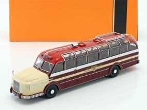 Krupp Titan 080 Bus Baujahr 1951 dunkelrot / beige 1:43 Ixo