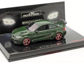 BMW AC Schnitzer L2 year 2016 dark green 1:43 Minichamps
