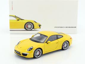 Porsche 911 (991) Carrera S Baujahr 2015 racing gelb 1:18 Welly