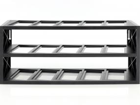Kunststoff Vitrine für bis zu 15 Modelle im Maßstab 1:43 schwarz Atlas