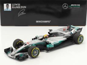 L. Hamilton Mercedes F1 W08 EQ Power+ #44 Weltmeister Spanien GP F1 2017 1:18 Minichamps