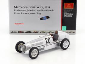 Mercedes Benz W25 #20 v. Brauchitsch formula 1 1934 Winner Eifelrace 1:18 CMC