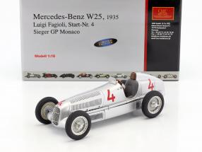 Mercedes-Benz W25 #4 L. Fagioli formula 1 1935 Winner GP Monaco 1:18 CMC
