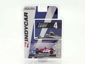 Matheus Leist Chevrolet #4 IndyCar Series 2018 A. J. Foyt Enterprises 1:64 Greenlight